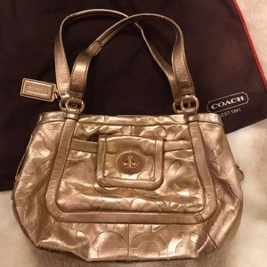 COACH Metallic, Rose Gold Bag